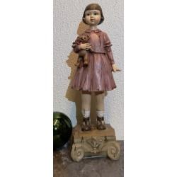 Vintage meisje met beer.