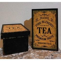 Boîte à thé vintage.
