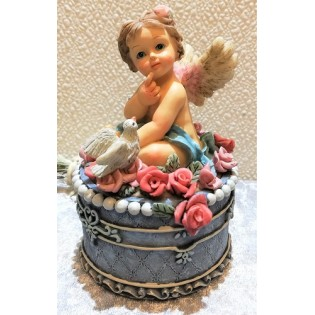 Boîte à bijoux Vintage Angels.