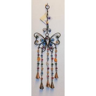 Metalen decoratieve vlinder.