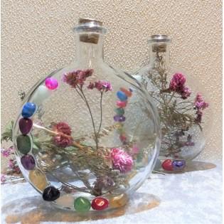 Vaasje met droogbloemen &...