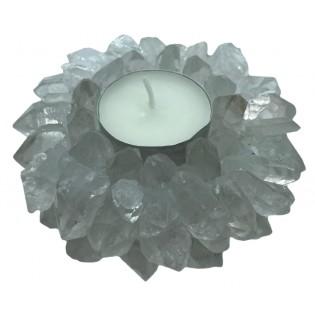 Bergkristal theelichthouder...